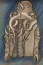 Cartoon: octopus man (small) by Suat Serkan Celmeli tagged octopus,man