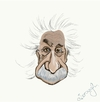 Cartoon: Einstein (small) by duygu saracoglu tagged einstein