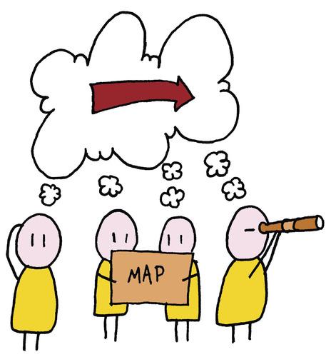 Cartoon Where Should We Go Medium By Rene Sorensen Tagged Direction