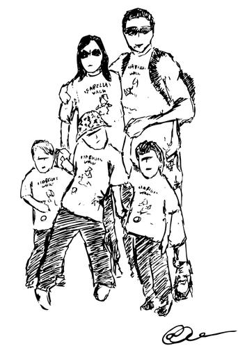 Cartoon Family Drawing