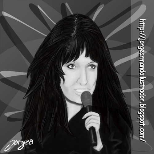 Cartoon: Mariska Veres (medium) by Jorge A tagged digital