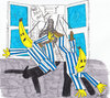 Cartoon: Bananas go for bit of shopping (small) by harpo tagged banana