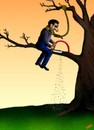 Cartoon: SUICIDE (small) by ugur demir tagged mm