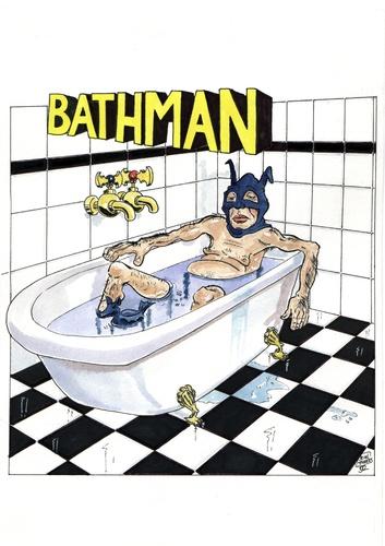 Bathman By Jean Gouders Cartoons Media Culture Cartoon Toonpool