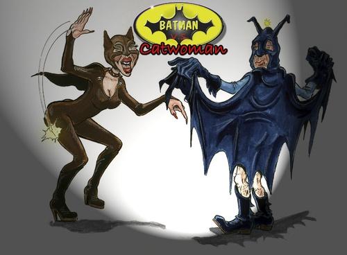 Catwoman Batman Cartoon. Cartoon: atman and catwoman