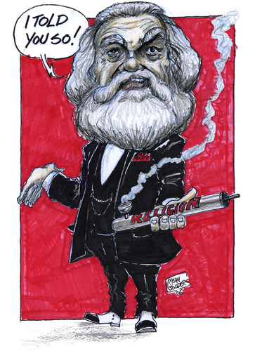 Cartoon: Karl Marx (medium) by jean gouders cartoons tagged labour,gouders,jean,marx,day,may