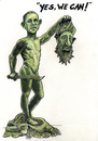 Cartoon: A nmonument for toughness (small) by jean gouders cartoons tagged obama president usa osama kill assasination