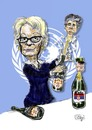 Cartoon: Carla del Ponte (small) by jean gouders cartoons tagged karadzic,del,ponte,bosnia,jean,gouders