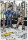 Cartoon: scene of Humptys fall (small) by jean gouders cartoons tagged ei,oef,egg,jean,gouders