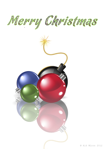 Christmas balls by alf miron religion cartoon toonpool