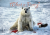 Cartoon: What a Party! (small) by Alf Miron tagged santa,claus,xmas,christmas,polar,bear,arctic,climate,change,earth,warming,food