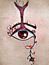 Cartoon: göz (small) by avarekadin tagged eye,rose,flower
