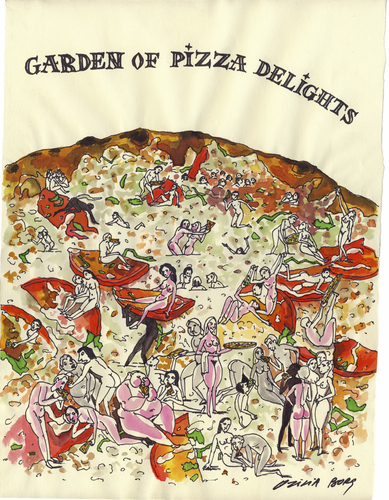 Garden of pizza delights By Otilia Bors | Media & Culture Cartoon ...