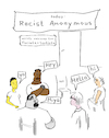 Cartoon: racist anonymous (small) by Bonville tagged racist,sadist,facist,everyone