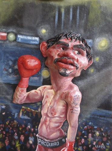 Cartoon: Manny Pacquiao (medium) by lloyy tagged manny,pacquiao,pacman,the,destroyer,philipine,boxer,famous,people