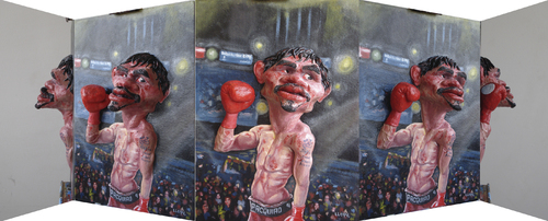 Cartoon: Manny Pacquiao Panoramic (medium) by lloyy tagged manny,pacquiao,pacman,the,destroyer,philipine,boxer,famous,people