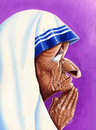 Cartoon: Madre Teresa de Calcuta (small) by lloyy tagged caricature caricatura humor