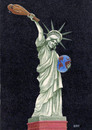 Cartoon: Oppressing to the world (small) by lloyy tagged statue,freedom,politics