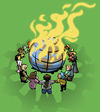 Cartoon: united (small) by Hentamten tagged united,people,worldpeace,burning