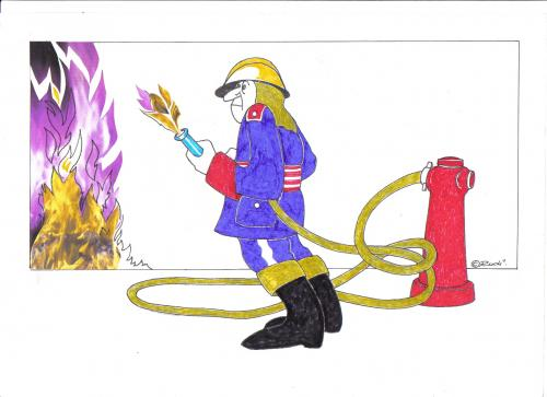 Cartoon: feuerwehrmann (medium) by ruditoons tagged feuer,