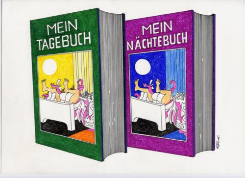 Cartoon: ohne titel (medium) by ruditoons tagged buch