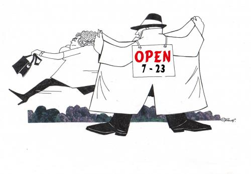 Cartoon: open (medium) by ruditoons tagged liebe