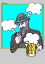 Cartoon: Bohemian Clouds (small) by srba tagged beer,oktoberfest,bohemian,clouds
