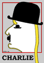 Cartoon: Charlie Chaplin (small) by srba tagged chaplin,portrait,caricature,hats,sticks
