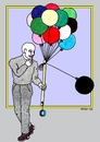 Cartoon: Intolerance - black sheep (small) by srba tagged intolerance,racism,colors,balloons