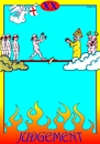 Cartoon: Judgement (small) by srba tagged judgement heaven and hell banana peel