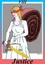 Cartoon: Justice (small) by srba tagged tarot,cards,justice,snail