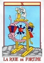 Cartoon: La Roue de  Fortune (small) by srba tagged tarot,cards,beer