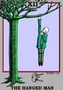 Cartoon: The Hanged Man (small) by srba tagged tarot,cards,hanged,man