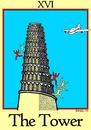 Cartoon: The Tower (small) by srba tagged tarot,cards,babylon,tower,eleven,nine