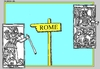Cartoon: Via Appia (small) by srba tagged tarot,cards,pilgrim,hitchhiking