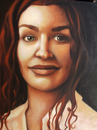 Cartoon: Oil on canvas (small) by dimaz_restivo tagged woman