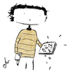 Cartoon: writer (small) by ANTRUEJO tagged escritor,word,letras,cuaderno,notebook,antruejo,ger