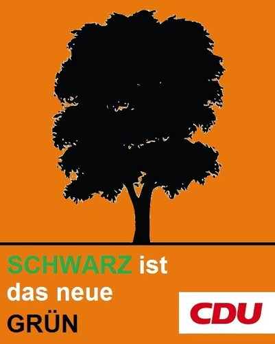 Cartoon: CDU-Wahlplakat (medium) by Paramantus tagged cdu,wahlen,wahlplakat,merkel,atom,moratorium,akw
