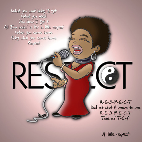 Cartoon: Aretha Franklin (medium) by isacomics tagged music,comics,respect,caricature