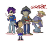 Cartoon: Gorillaz (small) by isacomics tagged isacomics,isa,comics,music,caricature