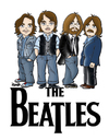 Cartoon: The Beatles (small) by isacomics tagged isacomics,isa,comics,music,caricature