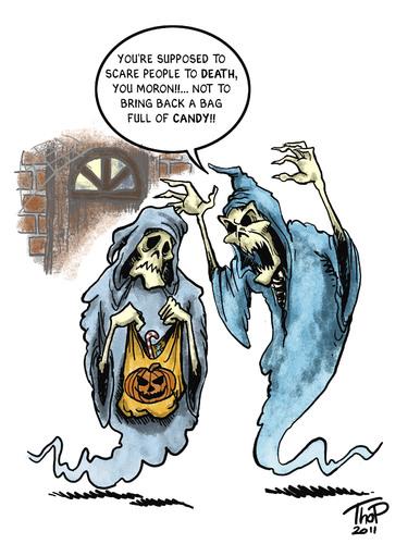 Halloween cartoon 2011 By thopman   Media & Culture Cartoon   TOONPOOL