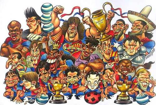 Cartoon: F.C. Barcelona 2006 2007 (medium) by Vizcarra tagged barcelona,barca,