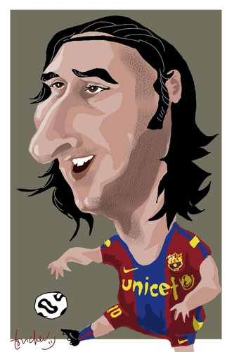 Cartoon: Leo Messi (medium) by Bravemaina tagged leo,messi,argentine,barcelona,soccer,football