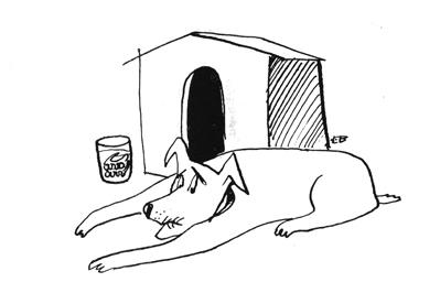 Cartoon: Retired (medium) by Mihail tagged dog,old,no,bite,