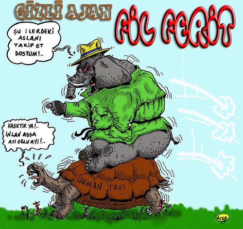 Cartoon: detective elephant modus (medium) by aceratur tagged detective,elephant,modus