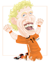 Cartoon: Dirk KUYT (small) by ELPEYSI tagged dirk,kuyt,holanda,naranja,mecanica