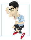 Cartoon: LUIS SUAREZ 4 GOLES (small) by ELPEYSI tagged luis suarez goles