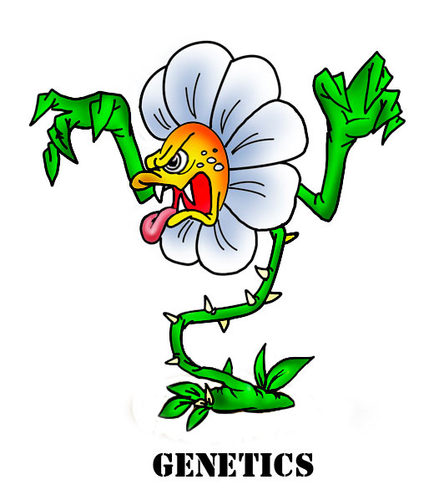 Cartoon: genetics (medium) by fengai tagged plants,genetics,terror ...