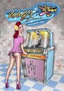 Cartoon: Jukebox Girl (small) by elle62 tagged pinup,diner,wolf